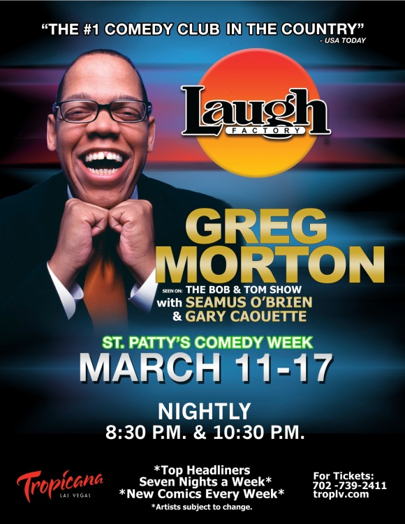 THIS WEEK!  GREG MORTON!  VEGAS BABY!!!