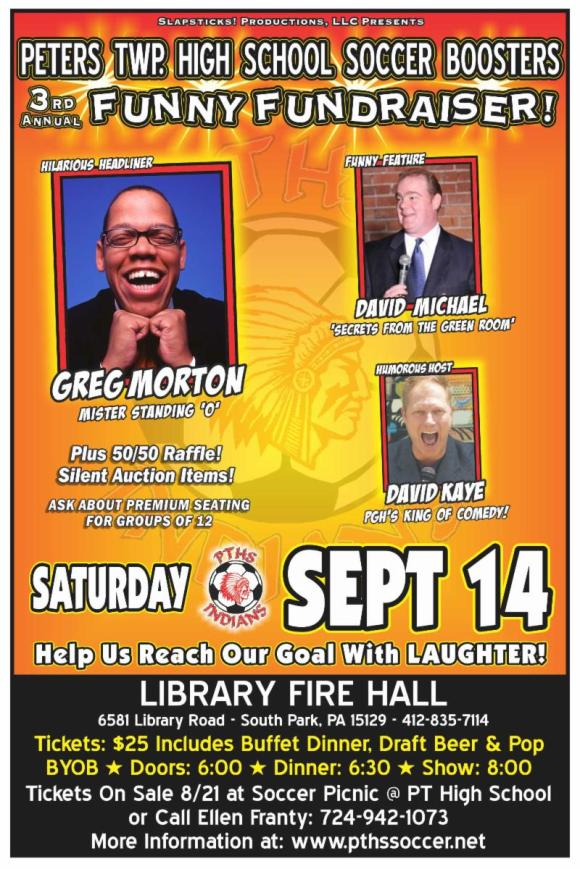 This Sat. Sept. 14 Greg Morton comes to SOUTH PARK, PA
