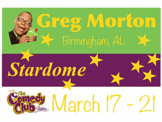 Greg Morton appears at the Stardome all this week!